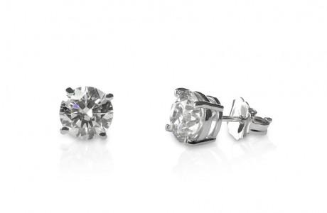 Stud solitaire earrings