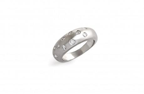 טבעת מעוגלת בגימור מט